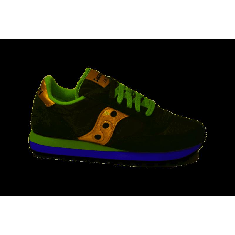 308e73d466 Saucony Sneakers Jazz O Verde Oro Donna