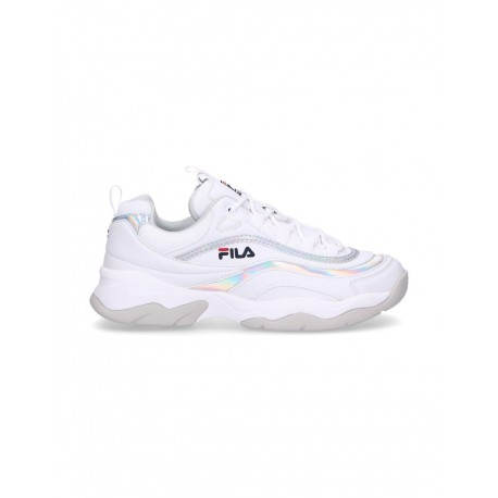 Fila Sneakers Ray M Low Bianco Argento Donna