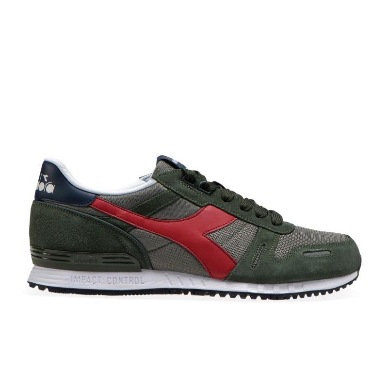 Diadora Sneakers Titan Ii Verde Rosso Uomo