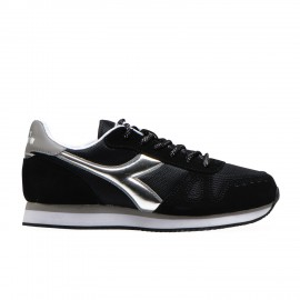Diadora Sneakers Simple Run Nero Argento Donna