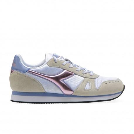 Diadora Sneakers Simple Run Bianco Rosa Donna