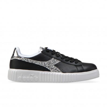Diadora Sneakers Game P Step Nero Argento Donna
