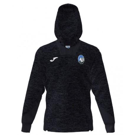 Joma Sport Felpa Calcio Cappuccio Atalanta Nero Bambino