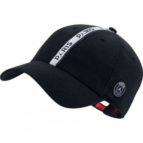 Nike Cappellino Psg Jordan H86 Nero Bianco Uomo