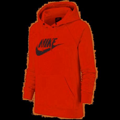 Nike Felpa Palestra Con Cappuccio Logo Rosa Donna