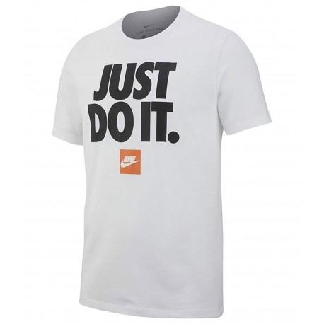 Nike Maglietta Palestra Just Do It Bianco Uomo