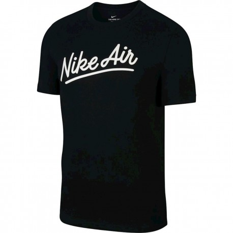 Nike Maglietta Palestra Logo Air Nero Uomo