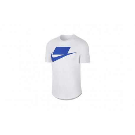 Nike Maglietta Palestra Manica Corta Logo Bianco Uomo