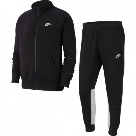 Nike Tuta Sportiva Full Zip Senza Cappuccio Nero Uomo