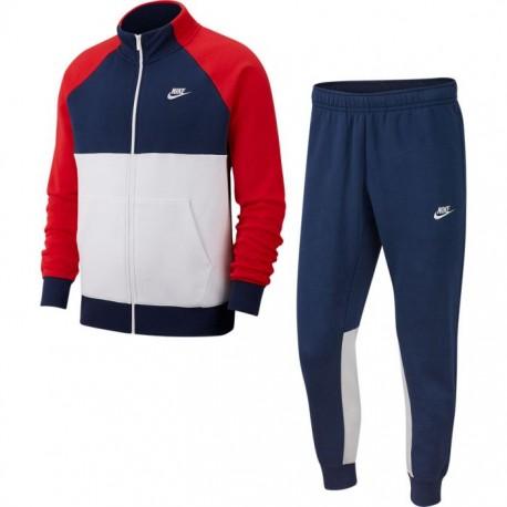 Nike Tuta Sportiva Full Zip Senza Cappuccio Blu Uomo