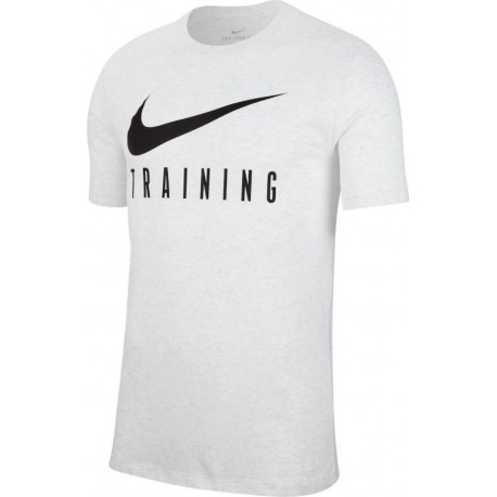 Nike Maglietta Palestra Big Logo Bianco Uomo