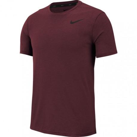 Nike Maglietta Palestra Logo Piccolo Bordeaux Uomo