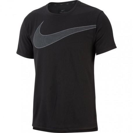 Nike Maglietta Palestra Big Logo Nero Uomo