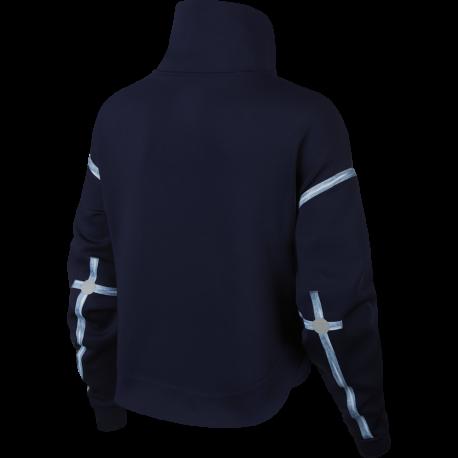 Nike Felpa Palestra Zip Train Blu Donna Acquista online su