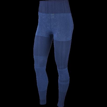 Nike Leggings Sportivi Seamless Blu Donna