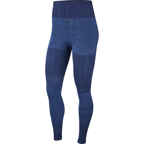 Nike Leggings Sportivi Seamless Blu Donna