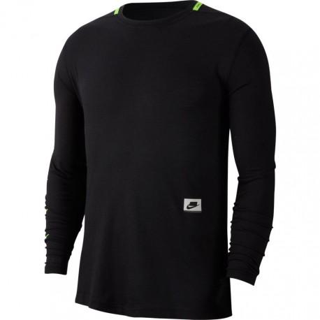 Nike Maglietta Palestra Manica Lunga Nero Uomo