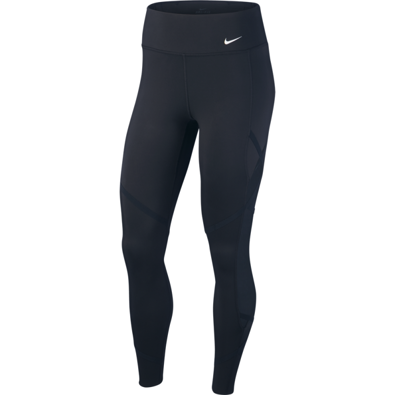 Nike Leggings Sportivi Rain Rebel Nero Donna