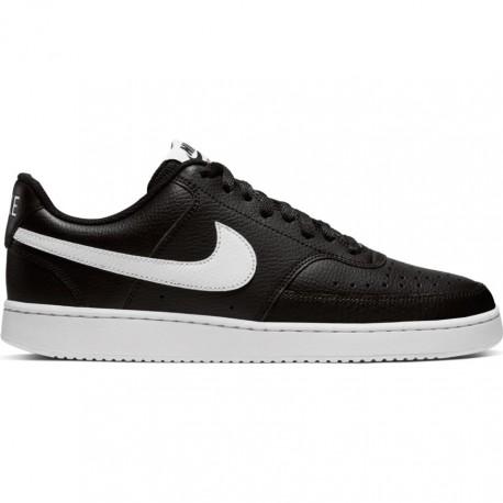 Nike Sneakers Court Vision Low Nero Bianco Uomo