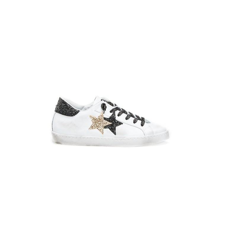 2stars Sneakers Glitter Nero Oro Donna