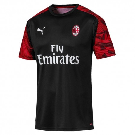 Puma Maglia Calcio Milan Training Nero Red Bambino