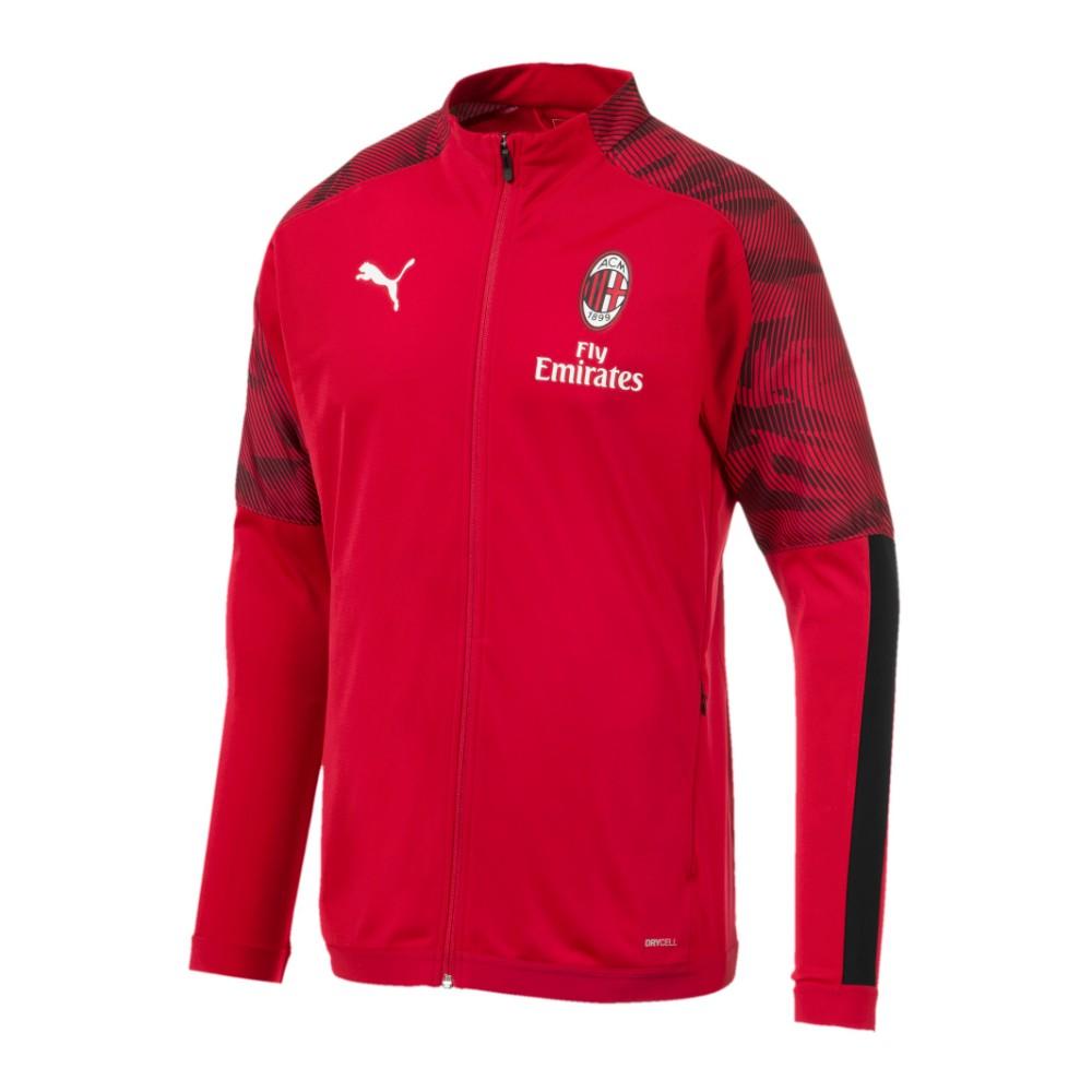 Puma Felpa Calcio Milan Poly Fz Red Nero Uomo