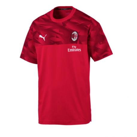 Puma Maglia Calcio Milan Travel Rosso Nero Bambino