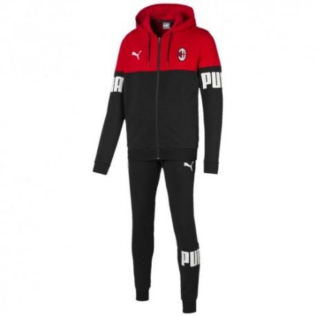 Puma Tuta Calcio Con Cappuccio Milan Red Nero Uomo