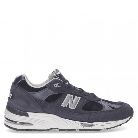 New Balance Sneakers 991 Nubuck Blu Uomo