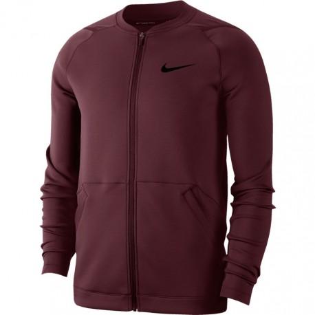 Nike Felpa Palestra Taglio Bomber Bordeaux Uomo