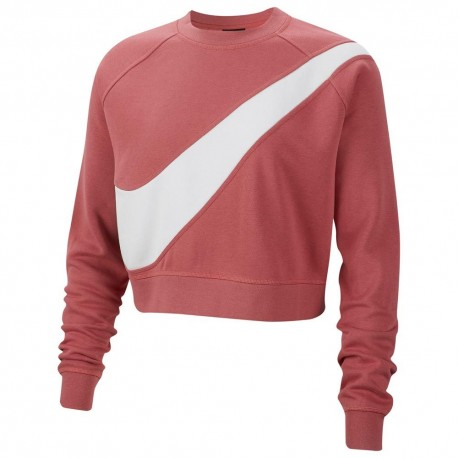 Nike Felpa Palestra Girocollo Rosa Donna