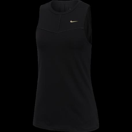 Nike Canotta Palestra Train Gold Nero Donna