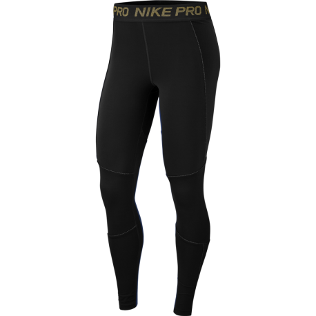 Nike Leggings Sportivi Train Gold Nero Donna