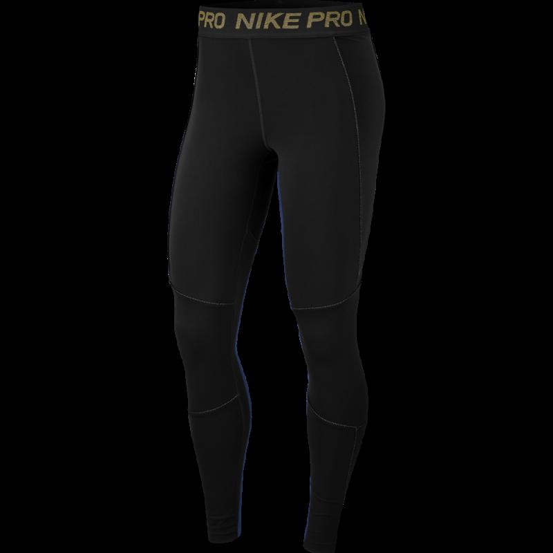 Nike Leggings Sportivi Train Gold Nero Donna