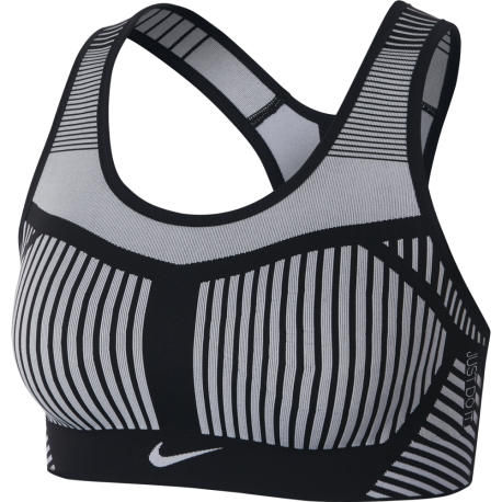 Nike Reggiseno Sportivo Train Flaiknit Nero Donna