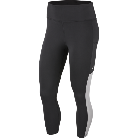 Nike Leggings Sportivi Mesh Di Lato Train Nero Donna