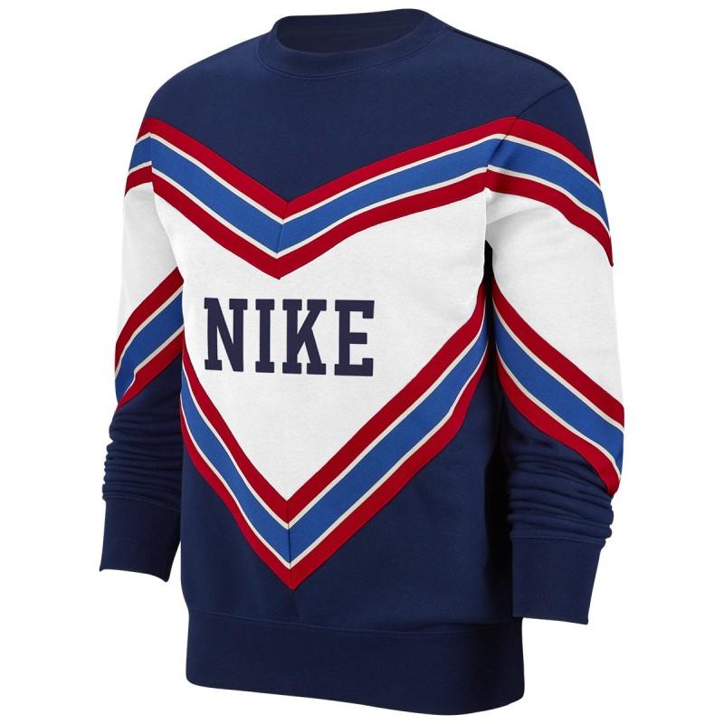 Nike Felpa Palestra Girocollo Blu Donna