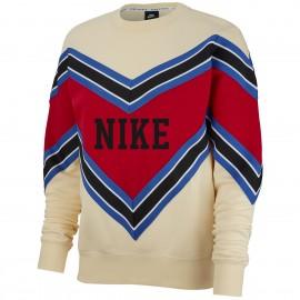 Nike Felpa Palestra Girocollo Avorio Donna