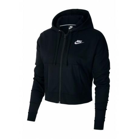 Nike Felpa Palestra Cappuccio Crop Nero Donna