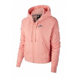 Nike Felpa Palestra Cappuccio Crop Rosa Donna