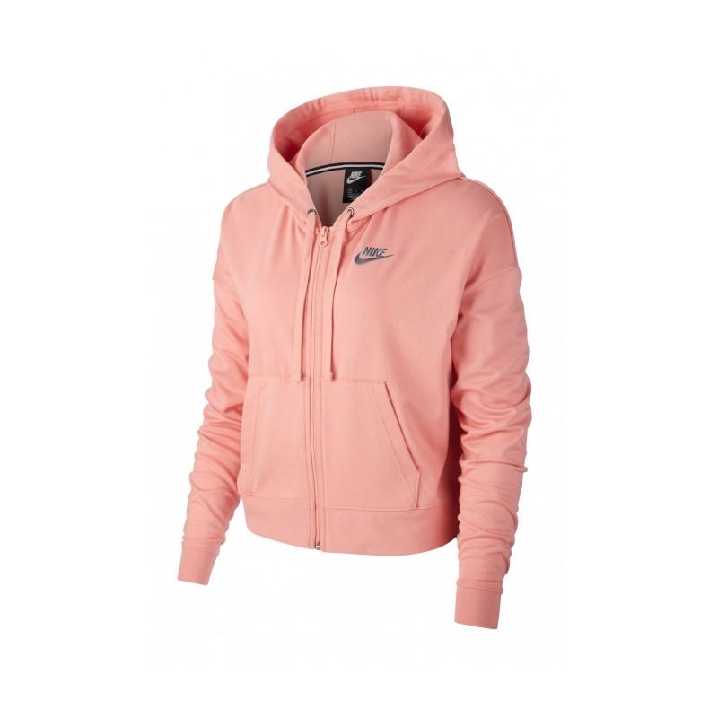 comprare on line 820a7 aaaef Nike Felpa Palestra Cappuccio Crop Rosa Donna