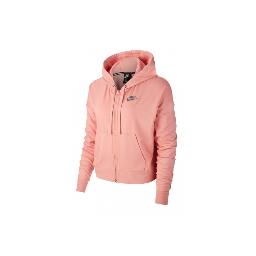 felpa nike donna con cappuccio rosa