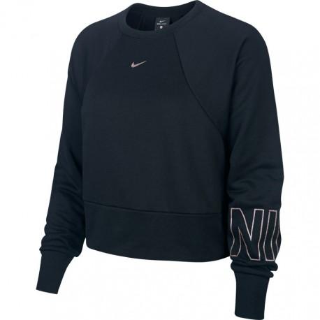 Nike Felpa Palestra Corta Girocollo Nero Donna
