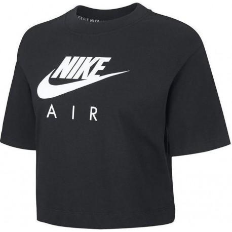 Nike Maglietta Palestra Girocollo Nero Donna