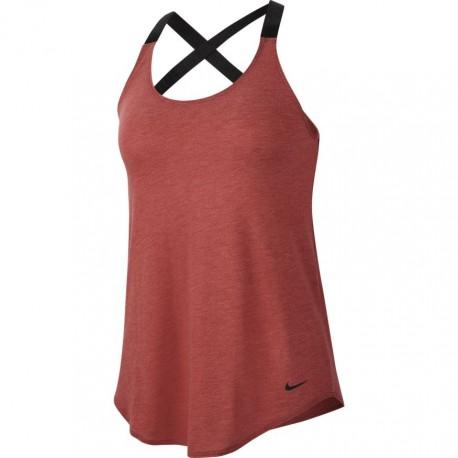 Nike Canotta Palestra Elastika Bordeaux Donna