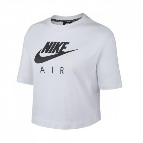 Nike Maglietta Palestra Girocollo Bianco Donna
