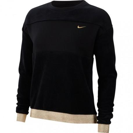 Nike Felpa Palestra Girocollo Orsetto Nero Donna