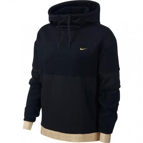 Nike Felpa Palestra Cappuccio Orsetto Nero Donna