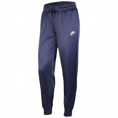 Nike Pantalone Palestra Satin Blu Donna