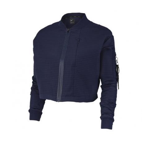 Nike Giacca Sportiva Bomber Tech Pack Blu Donna